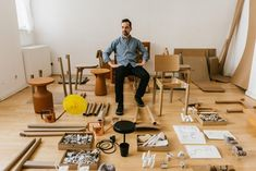 The Berlin studio of Designer Paul Loebach. Learn more about his creative process and design philosophy on Freunde von Freunden.