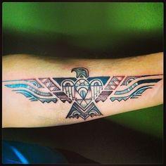 Native Thunderbird - a supernatural bird who creates thunder and lightening.