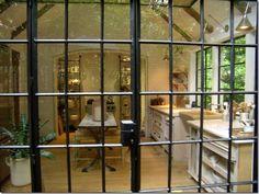 steel-framed windows