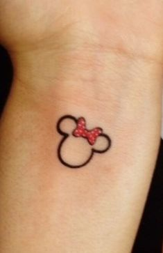 Minnie Mouse tattoo idea.