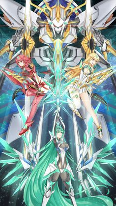 Xenoblade Chronicles 2 Pneume Pyrha and Mythra Art Anime, Anime Art Girl, Fire Emblem, Xenoblade X, Xenoblade Chronicles 2, Accel World, Robot Concept Art, Mecha Anime, Manga Games