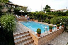 piscine semi-enterrée pour votre cour