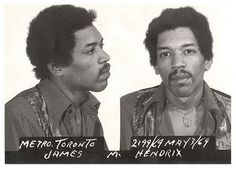 Jimi Hendrix mugshot