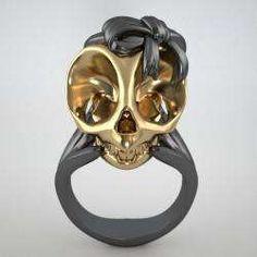 Feminine Skeleton Rings - Violet Darkling Adds Some Girlish Glamor to Dark Themes (GALLERY)