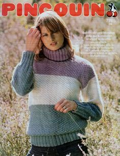 PDF Digital Download Vintage Knitting Pattern Ladies Womens Loose FItting  Polo Neck Sweater Jumper in DK 8 ply Bust 32 34 36 38 ec5c51d16