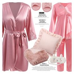 """""""Good night"""" by vanjazivadinovic ❤ liked on Polyvore featuring Pottery Barn, P.J. Salvage, Deluxe Comfort, polyvoreeditorial and zaful"""