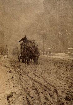 """""""Winter – Fifth Avenue"""" (1893) by Alfred Stieglitz"""