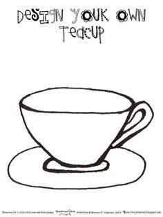 Teapot coloring page printable Party ideas big 30 Pinterest