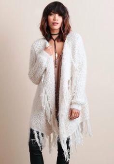 Fringe sweater