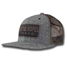 01b3ce6247b19 Hooey Cactus Ropes Grey and Brown Trucker Cap