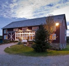 """Converted Timber Barn - Converted Barn Homes - 11 """"Barn Again"""" Buildings with Farm Charm - Bob Vila  I am in love with this place!  I would love to find a barn like this and turn it into a home.  Wow!"""