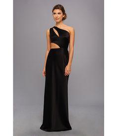 ABS Allen Schwartz Cutout One-Shoulder Gown