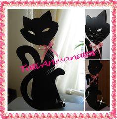 Tati  Artesanatos: Gato Preto - Tranca Portas