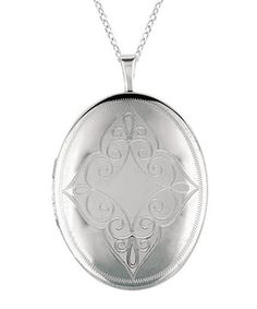This Silver Filigree Flourish Oval Locket by World Trade Jewelers is perfect! #zulilyfinds