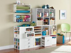 #papercraft #craftroom #organization. Organize All Your Crafting Tools With This Great Set Up