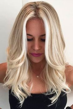 Details about European Real Human Hair Wigs Blonde Wavy Lace Front Wigs Full Lace Wigs - Hair & Beauty that I love - Hair Color Blonde Hair Shades, Icy Blonde, Platinum Blonde Highlights, Blonde Roots, Bright Blonde Hair, Blonde Color, Color Highlights, Full Head Highlights Blonde, Blonde In Front
