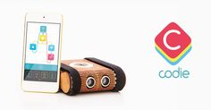 Codie is a robotic toy that teaches kids the principles of coding. While playing with Codie your child will become familiar with logical thinking and problem solving that all technology is based on.