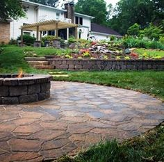 patio ideas - with firepit