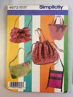 Simplicity-4673-One-Size-Bag-Purse-Uncut-2005