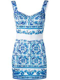 Shop Dolce & Gabbana Majolica print mini dress  in Vinicio from the world's best independent boutiques at farfetch.com. Shop 300 boutiques at one address.