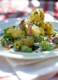 rask middag: Stekte poteter med bacon, timian og persille - KK.no