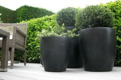 Black Terrazzo Planters 1 - Black Terrazzo Planters 1