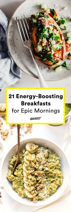You might not need that second cup of coffee after all. #greatist https://greatist.com/eat/healthy-breakfast-recipes-that-give-you-energy