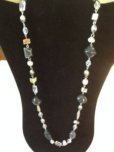 """Long Fashion Necklace w/ Various Adornments (35"""")"""