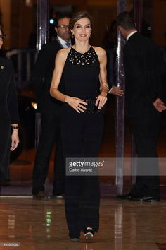 "Queen Letizia of Spain attends the 'XXIV Musical Week' closing concert at the Principe Felipe Auditorium during the 'Princess of Asturias 2015 Awards"" on October 22, 2015 in Oviedo, Spain."