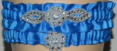 Royal Blue Wedding Garter Set Bridal Garter by WeddingGarterStore, $17.50