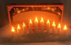 Yuletide Vintage Christmas Lights 10 Lite Mini Candolier Works Great #Yuletide Vintage Christmas Lights, Christmas Card Holders, Light Works, Mrs Claus, Handmade Felt, Vintage Disney, Vintage Lighting, Candles, Mini