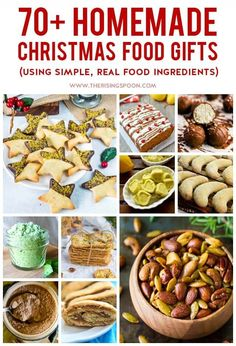 On the hunt for the best homemade food gifts to make for Christmas? Recipes that will impress your friends and family, but are made with simple, real food ingredients (no junk)? You're in the right place! Check out this post for loads of ideas & inspirati