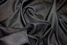 Black Chambray Light Twill | Cotton Fabrics | Calico Laine £5.99/m