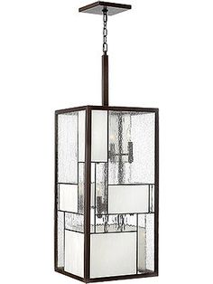 Mondrian-inspired pendant - perfect in a high foyer.