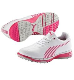 Puma FAAS Grips Women's Golf Shoe White/Cabaret | Golf4Her