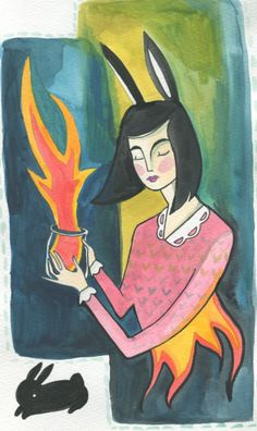 fire eater by bunny dee. #art #illustration