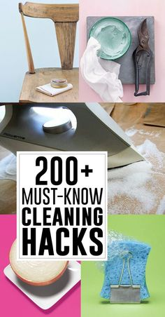 Want to know how to clean just about anything?? I've found all the cleaning hacks there could possibly be! Plus some cleaning printables to help you organize your cleaning. You can no be the cleanest neat freak on the block! Save this so you can come back when you need to know how to get nail polish off your floor or get that terrible sticky mess off your iron!
