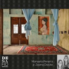 Ambiente arquitetas Maria Manoela Bento Pereira e Joana Deicke para o Desafio Império Persa - Tapete kasham. #desafioimperiopersa Bento, Home Decor, Challenges, Carpet, Environment, Log Projects, Arquitetura, Persian, Decoration Home
