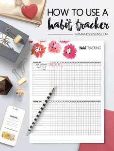 How To Use A Habit Tracker - Keeping track of your habits is vital for your success, and now you have a simple tool to motivate, and inspire you, to take control of your habits. @mamamissblog