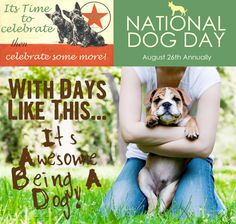 National Dog Day has two goals: to honor and celebrate dogs and their  unconditional love, and to rescue dogs from homelessness and abuse.