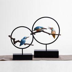 软装 物品  装饰品 小型 树脂 台面翠鸟 雕塑摆件 ruanzhuang wupin xiaojian shipin niao zhuangshipin baijian