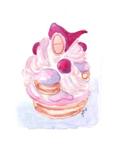 Laduree Original Watercolor Painting  French Pastry by jojolarue, $45.00