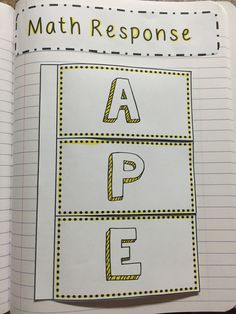 """Use the """"APE"""" strategy to teach your students how to write about math! This constructive response strategy helps students break down their math thinking and explain their work after solving a problem. Interactive Math Journals, Math Notebooks, Teaching Math, Teaching Numbers, Maths, Math Games, Teaching Ideas, Teaching Geometry, Math Math"""