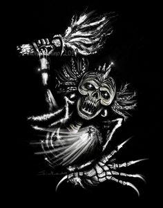 #44 per Illustrate a Skull - Angry and Badass da Janasebook