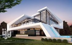 (notitle) - Welcome to a *cough* humble home - Arquitectura Modern Villa Design, Modern Architecture Design, Minimalist Architecture, India Architecture, Contemporary Design, House Front Design, Modern Mansion, Luxury Homes Dream Houses, Dream House Exterior