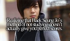 Baek Seung Jo not studying. Playful Kiss, Baek Seung Jo, Age Of Youth, Itazura Na Kiss, Drama Funny, Jung So Min, Cute Stories, Reality Check, Korean Celebrities