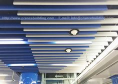 In this project, Prance offers suspended metal ceiling with numerous custom designs Baffle Ceiling, Metal Ceiling, Metro Station, Big Project, Ceiling Design, Custom Design, Ceilings, Projects, Tube