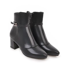 Show Shine Women's Chic Zip Buckle Point Toe High Heel Dress Boots * Check out the image by visiting the link. #womenboots