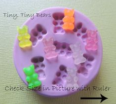 TINY Gummy Bear Schimmel DIY Dollhouse tragen Schimmel Polymer Clay Harz GB MOld