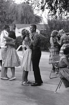 life seemed hard but yet so romantic back then Couples dancing in Van Nuys, California, Photo by Yale Joel for Life magazine. Shall We Dance, Lets Dance, Life Magazine, Vintage Love, Vintage Romance, Vintage Vibes, Vintage Photographs, Belle Photo, White Photography